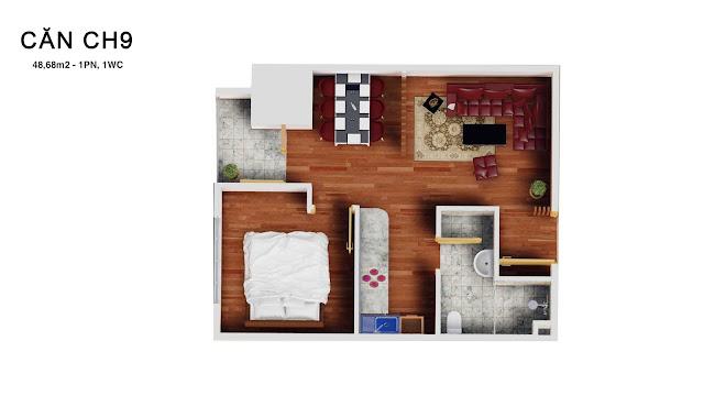 Thiết kế căn 09 tháp doanh nhân