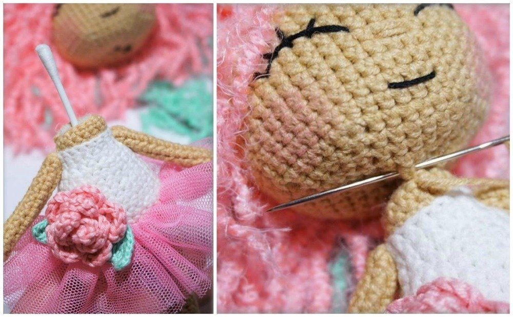 Crochet doll amigurumi tutorial neck