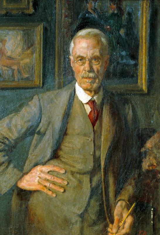 Frederick Brown, Self Portrait, Portraits of Painters, Fine arts, Portraits of painters blog, Paintings of Frederick Brown, Painter Frederick Brown