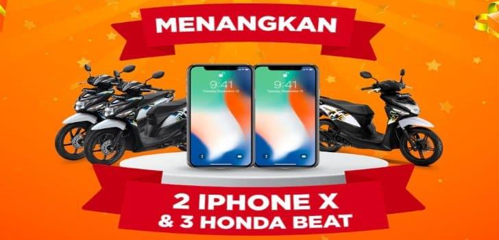 Cara Sanggup Koin Shopee Gratis Iphone X Dan Motor Honda Beat