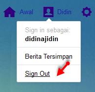 Cara keluar atau signout dari akun email yahoo