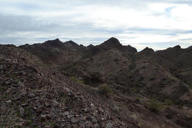 sharp bumps of mountain
