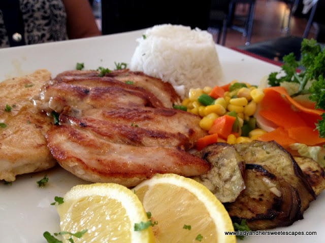chicken with rice at Giuseppe's Tacloban