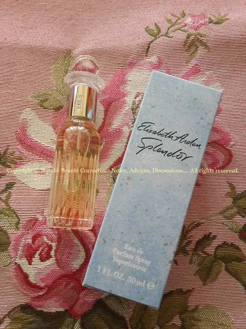 SPLENDOR by ELIZABETH ARDEN PERSONAL PERFUME REVIEW AND PHOTOS NATALIE BEAUTE