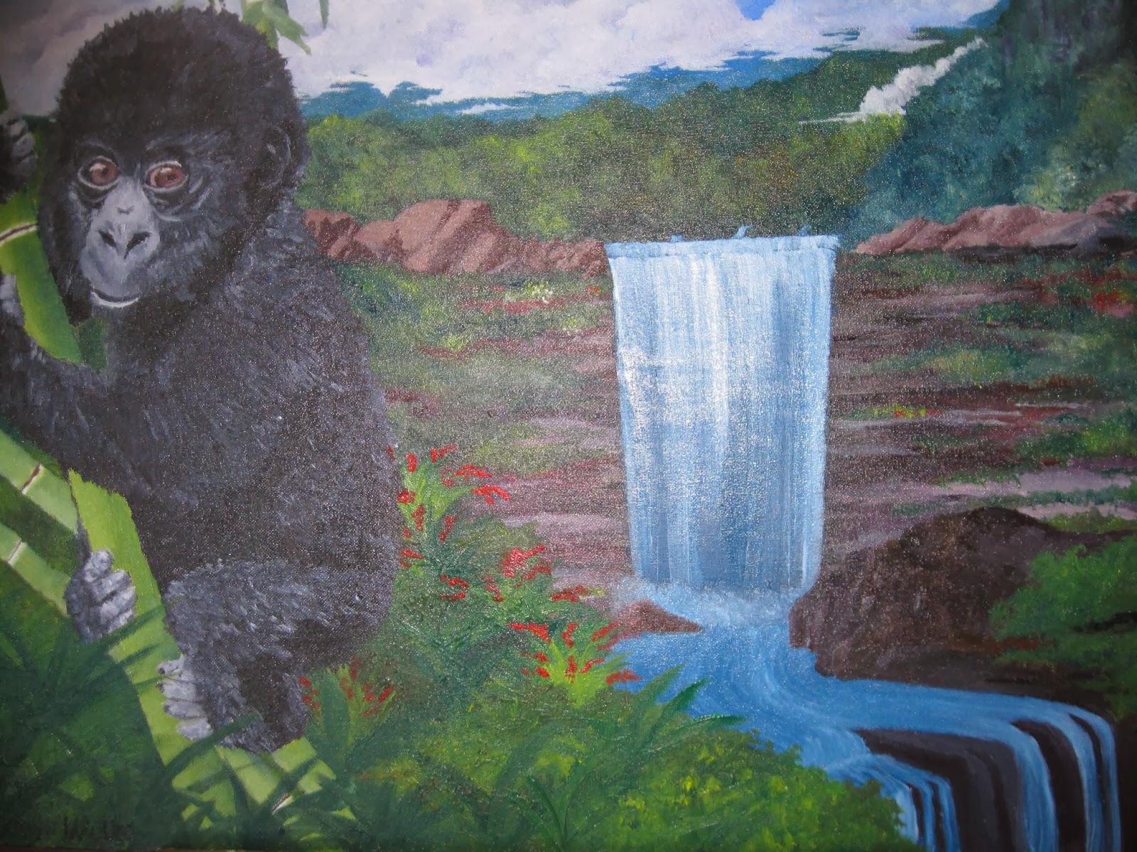 Baby Gorilla in Jungle