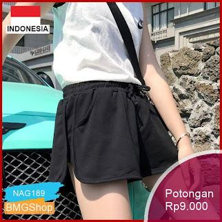 NAG189 Celana Wanita Model High Waist Potongan Sporty Murah Bmgshop