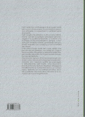 The book 30 luoghi verdi del cuore put out by the Gruppo Flora Alpina Bergamasca (FAB) - back cover.
