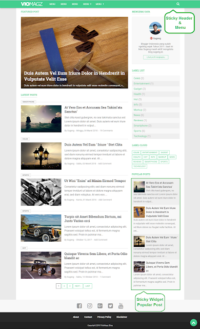 Download VioMagz Responsive Blogger Template