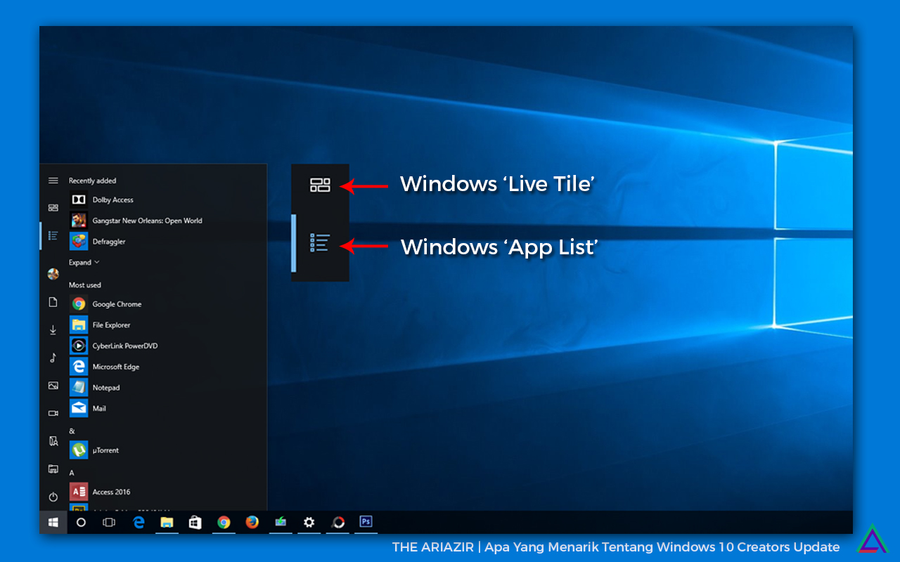 Disabled App List on Start Menu
