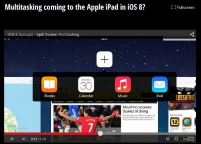 Split Screen Multitasking Akan Datang ke iPad iOS 8?