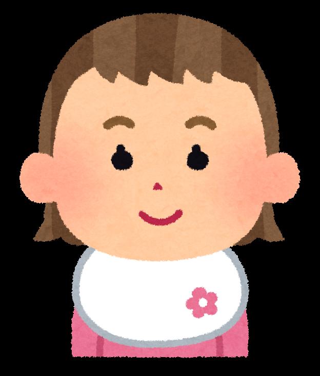 女の子の赤ちゃんの表情のイラスト怒った顔泣いた顔笑った