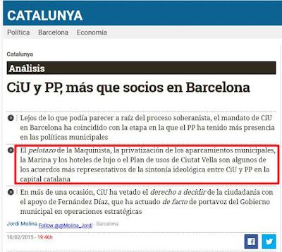 CiU y PP, más que socios en Barcelona