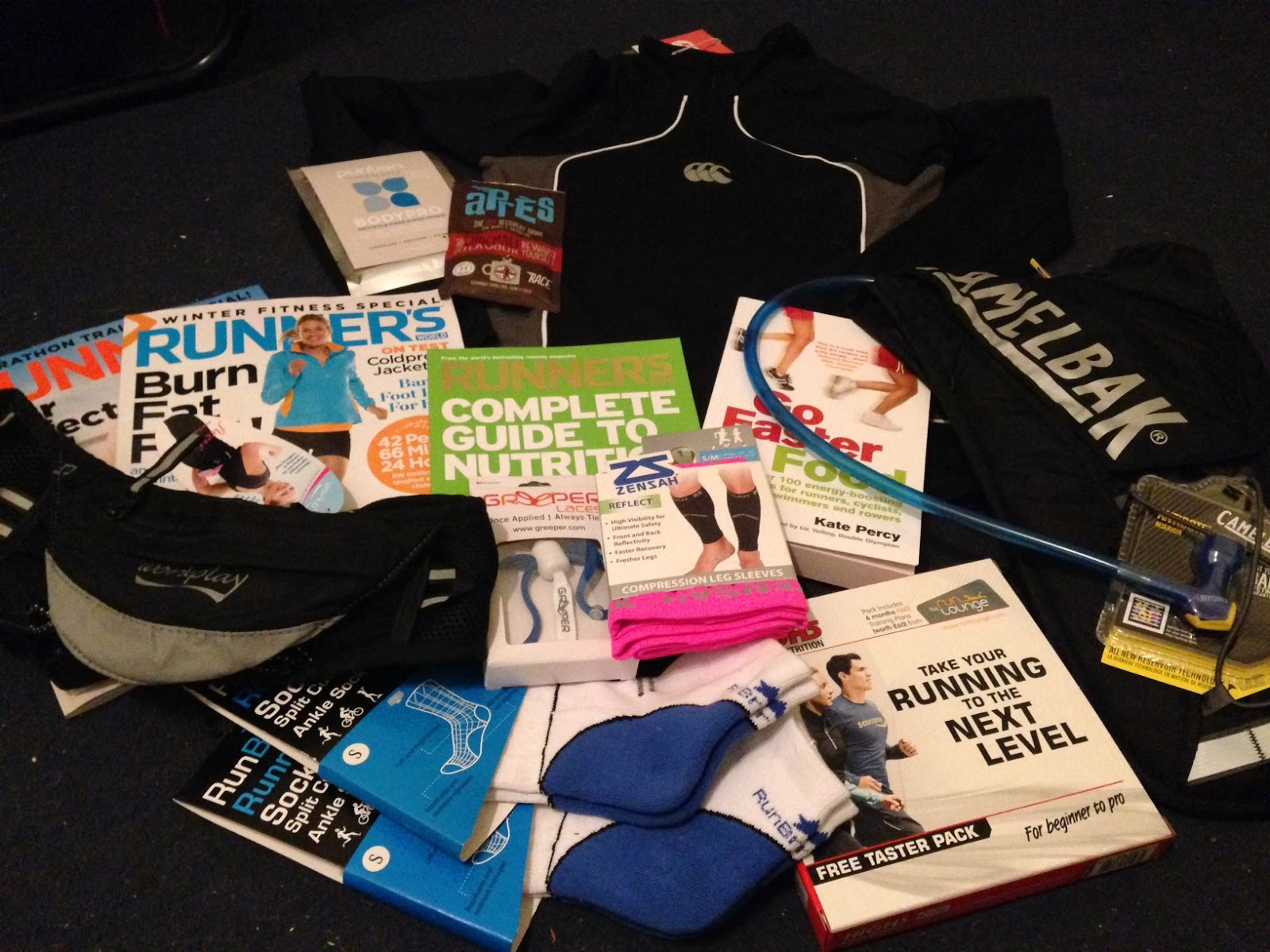 Running Show goodies