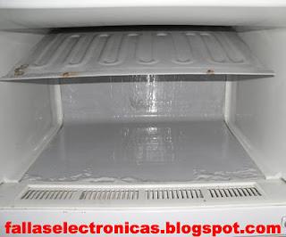 cambio de freezer con fuga de gas