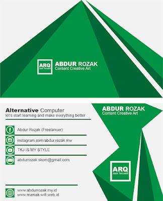 Design Kartu Nama dengan Adobe Illustrator | Hijau
