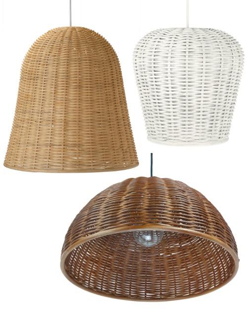 Wicker Basket Pendant Lights