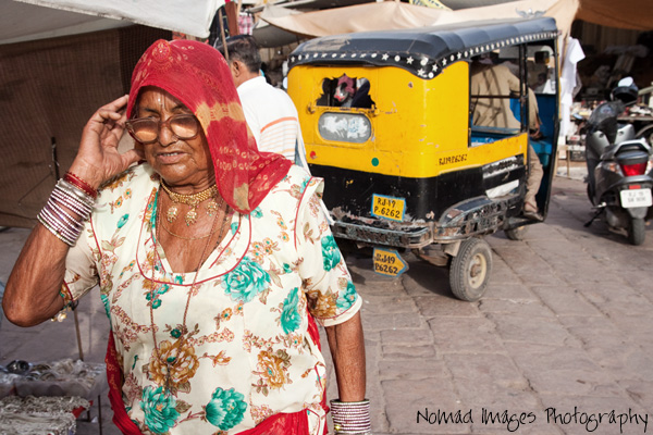 auto rickshaw on city streets