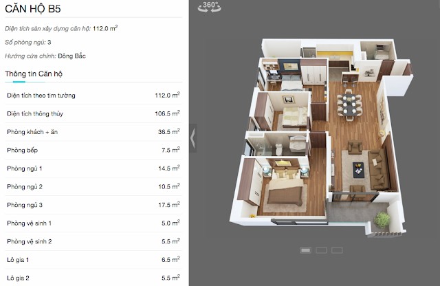 Thiết kế căn hộ B5 chung cư The Legend