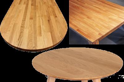 mặt bàn gỗ Sồi ghép Thanh