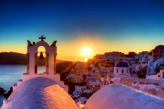 Pôr-do-sol em Oia, Santorini