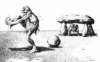 Claude Serre cartoons - caveman