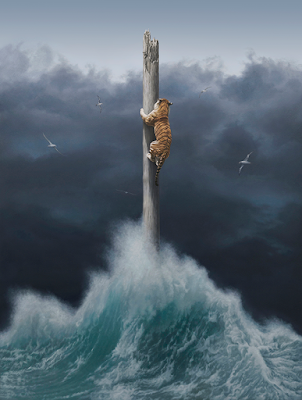 Green Pear Diaries, arte, pintura, Joel Rea, Conquest