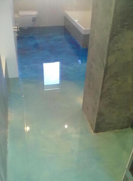 Arredamento e dintorni pavimenti in resina - Pavimenti per bagno moderno ...