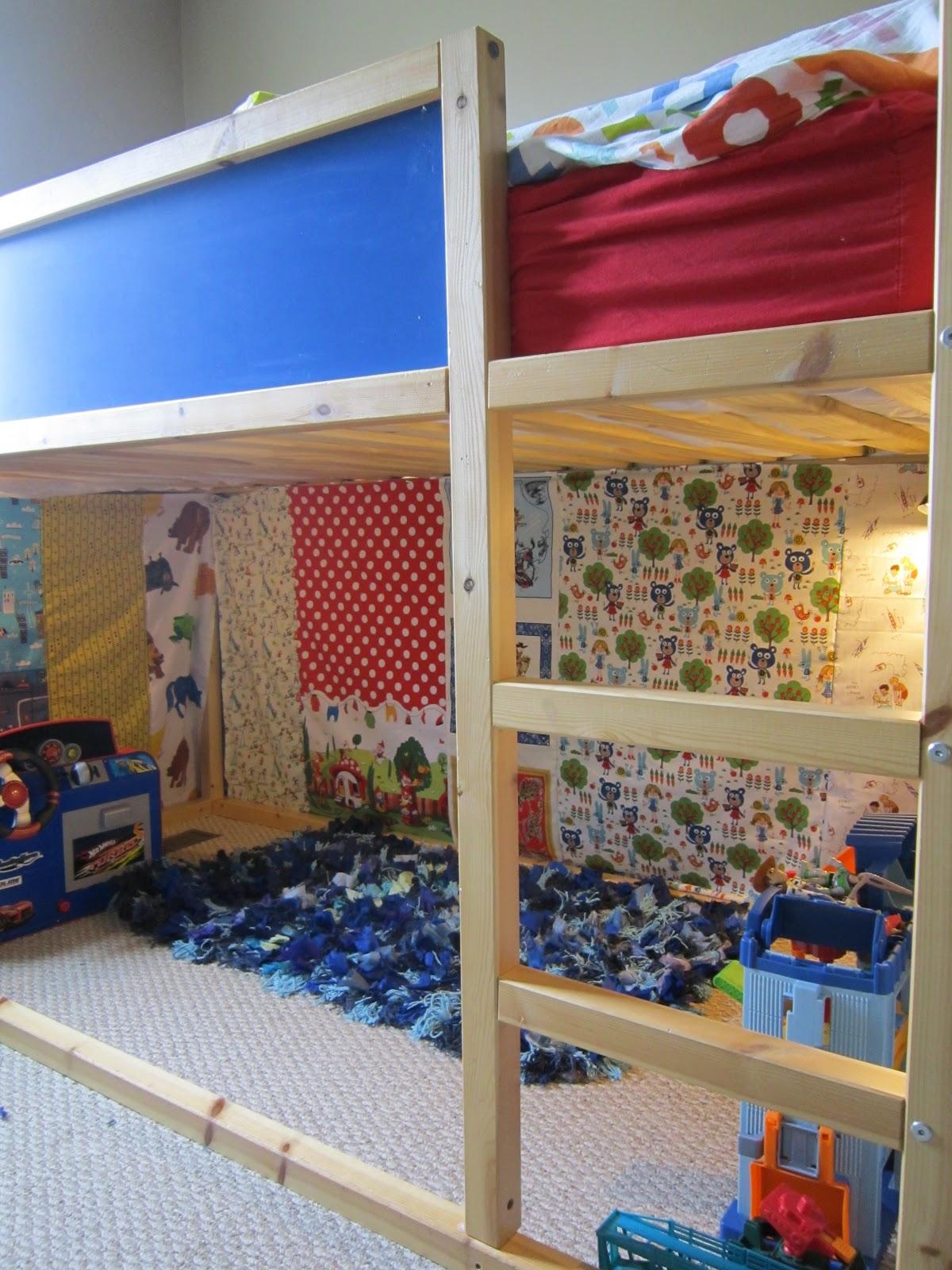 Tutorials Crafts Projects Kids Children Handmade Diy Curtains For Our New Kura Loft Bed