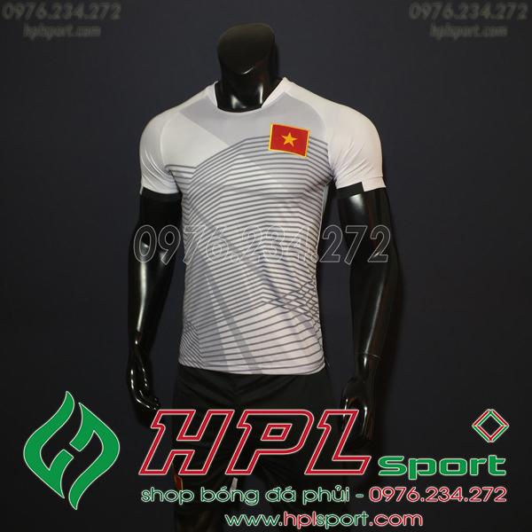 Áo bóng đá đội tuyển Việt Nam Xám 2018