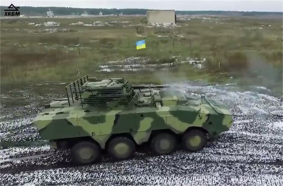 First_trial_tests_of_Ukrainian_BTR-4MV1_