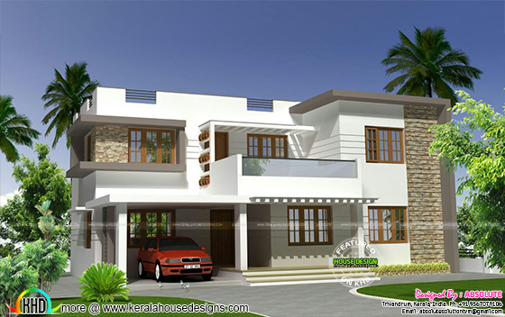 2250 sq-ft modern flat roof 4BHK home