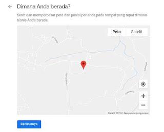 Peta lokasi google bisnisku