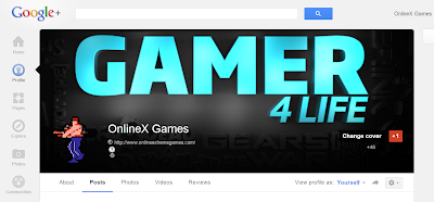 OnlineX Games Google Plus profile header
