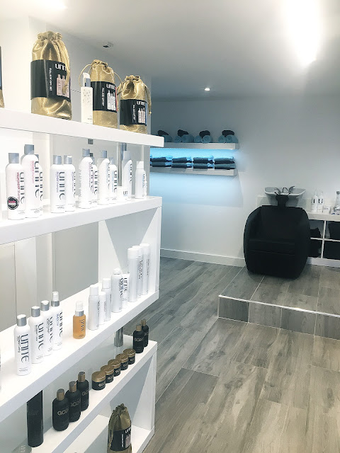 salon interiors, hairdresser, unite hair care