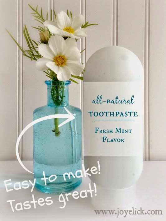What's been the best and the worst of your experiences making homemade toothpaste? I'd love to hear your story.
