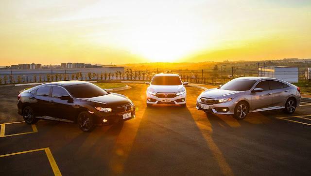 Novo Honda Civic 2017 - versões brasileiras