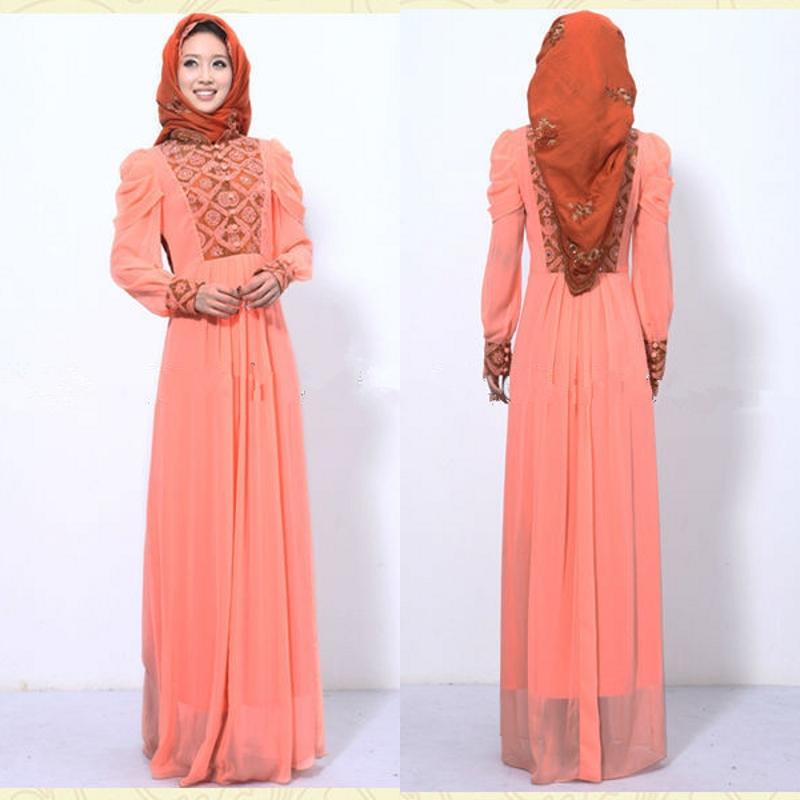 Model Baju Gamis Sifon Muslim Terbaru 2016