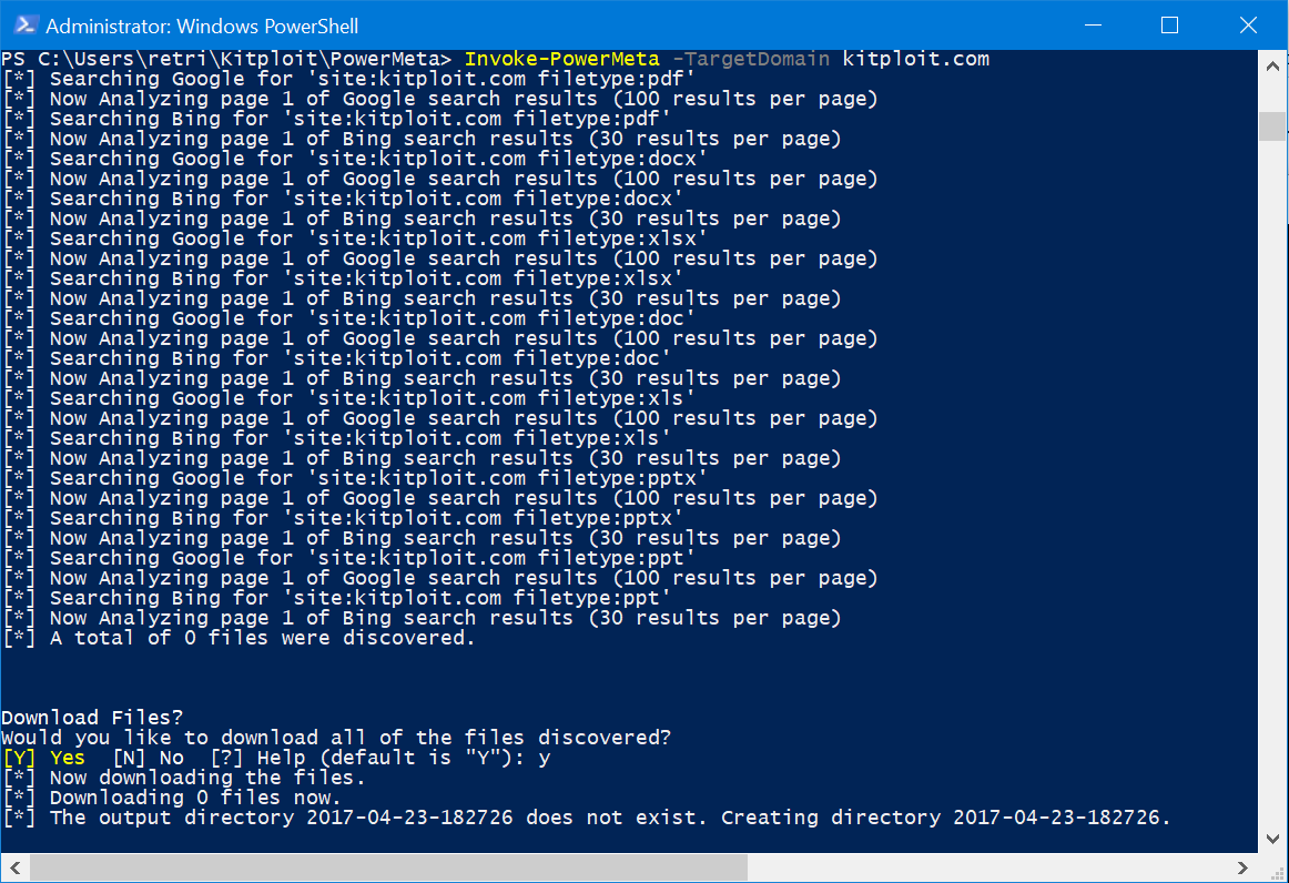 PowerMeta - PowerShell Script to Search Publicly Files for a