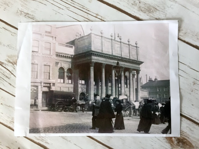 Family Activities in Nottingham | Morgan's Milieu: Nottingham Theatre Royal, old photograph in black and white. The theatre is actually 150 years old this year!