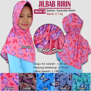 Jilbab serut bergo motif cantik - ririn seri 3