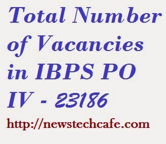 Total Number of Vacancies in IBPS PO IV - 23186 | Bankwaise Vancancy Details of IBPS PO IV