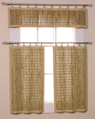 Bamboo Valance And Tiers Bamboo Valance Photo