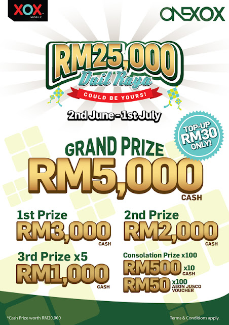 Peluang Dapat Duit Raya Berjumlah RM25 Ribu!