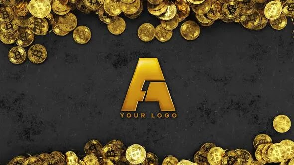 Golden Bitcoin/Encrypted Digital Currency Theme Opening Animation AE Template[GraphixTree]