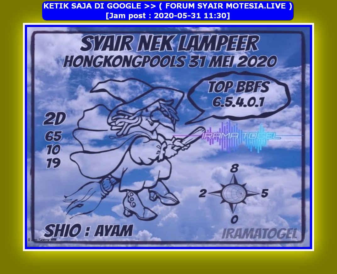 Kode syair Hongkong Minggu 31 Mei 2020 207