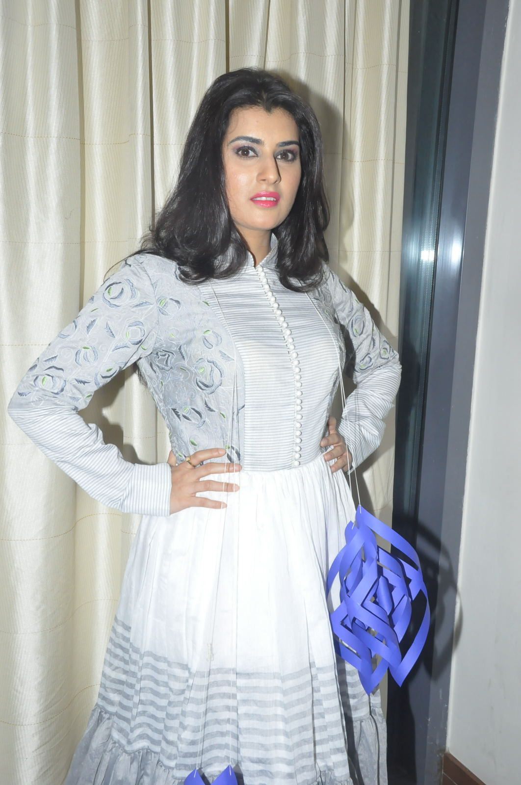 Archana Vedha Photos In White Dress