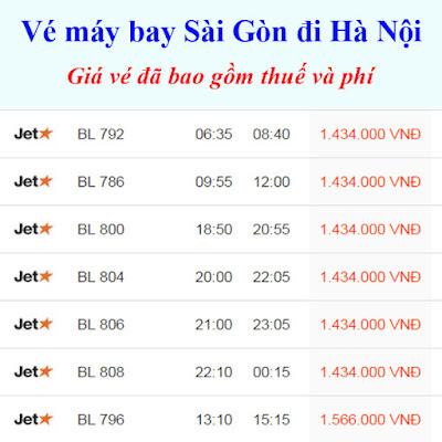 vé máy bay đi Hà Nội Từ Sài Gòn