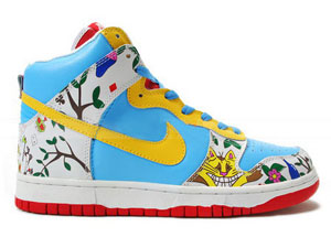 outlet store b5ca2 c381c Nike Shoes Alice s Adventures In Wonderland Pro SB Dunk High For Boy