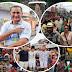 Pré-candidatos ao governo acompanham bloco A Banda, em Macapá.