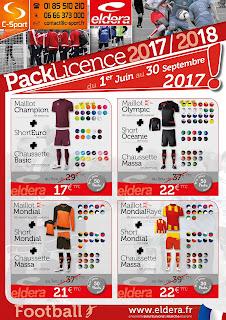 Les packs Licence Eldera pour le football - Rentrée 2017/2018